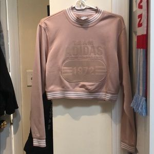 Adidas originals cropped sweatshirt
